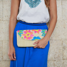 Load image into Gallery viewer, Embroidered Envelope Clutch: Casey