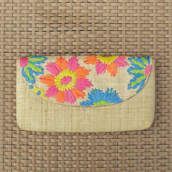 Embroidered Envelope Clutch: Casey