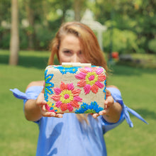 Load image into Gallery viewer, Embroidered Hard Clutch: Corey - Island Girl