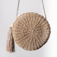 Load image into Gallery viewer, PRIYA Tassel Round Bag