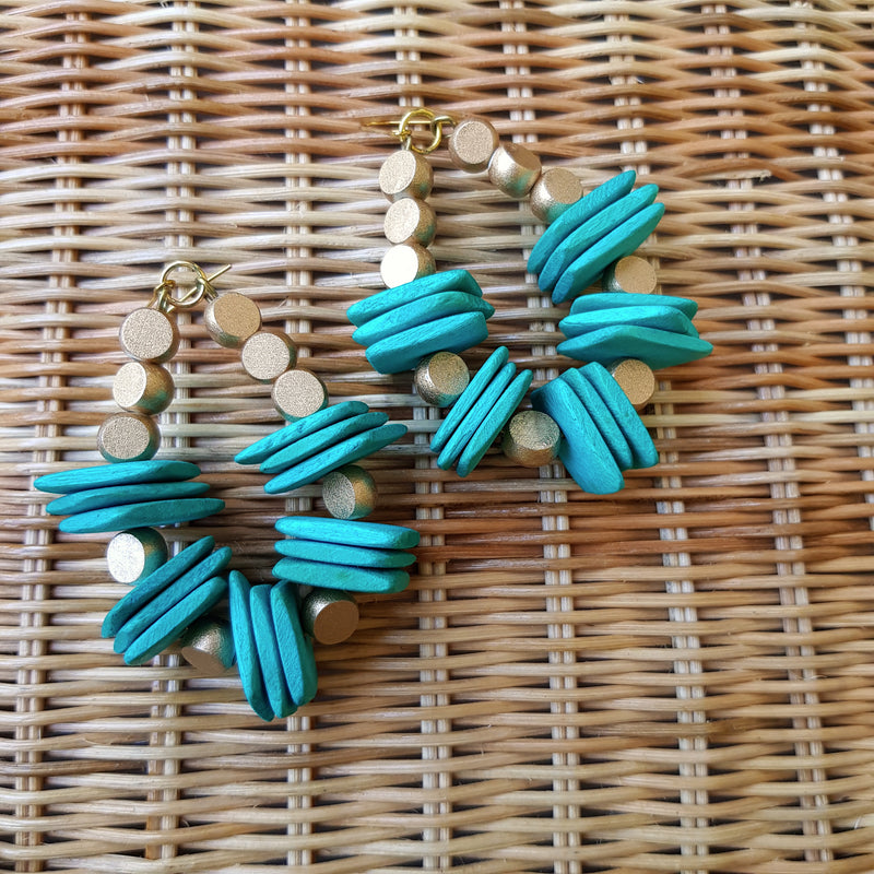 Divine Earrings in Turquoise - Island Girl