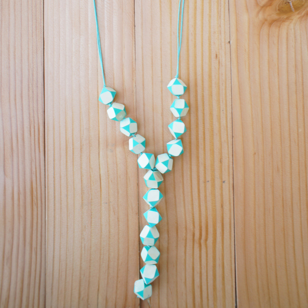 Edith Necklace in Mint Green