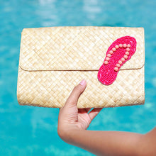 Load image into Gallery viewer, Applique Clutch Bag: Flipflop - Island Girl