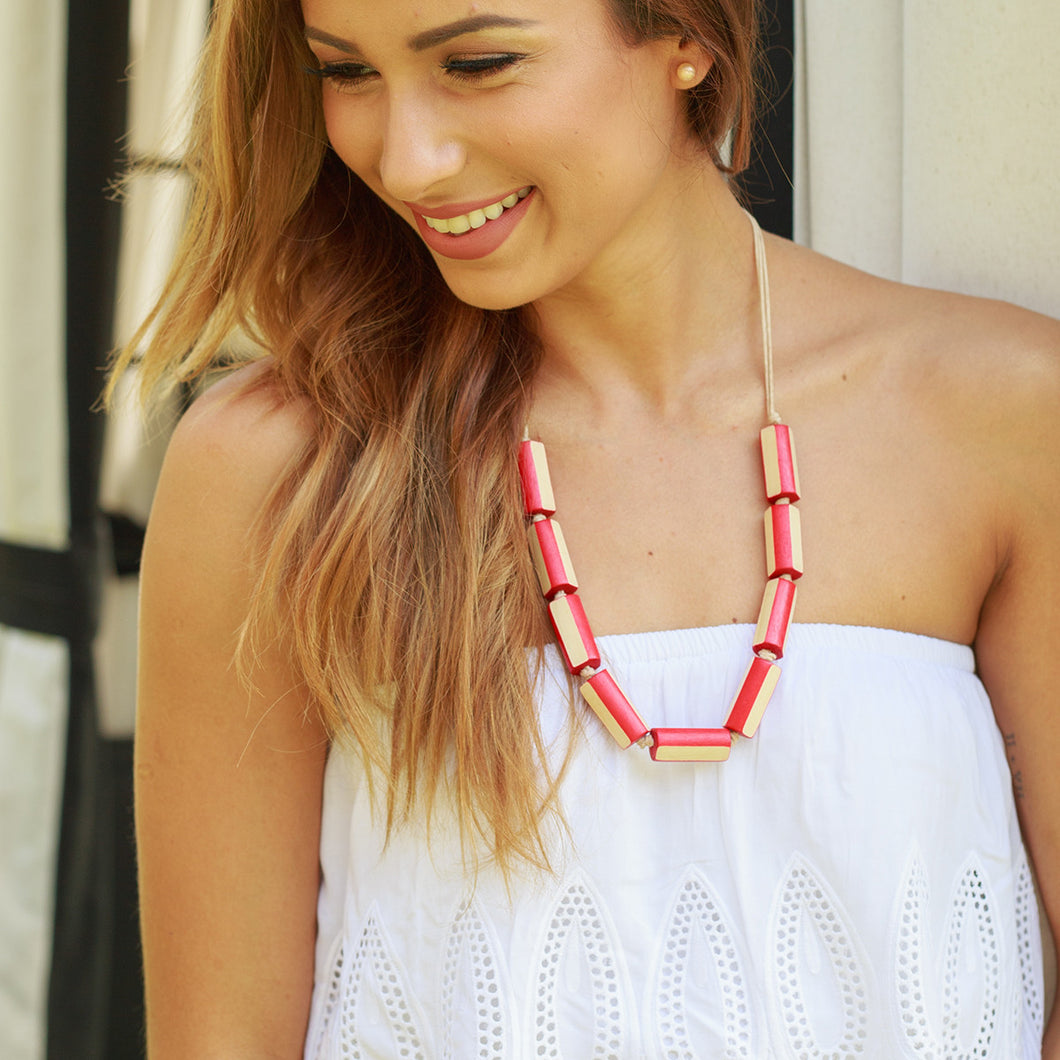 Freya Necklace in RED - Island Girl