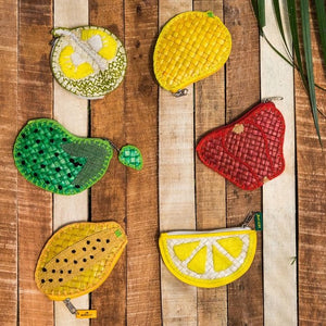 Papaya Pandan Coin Purse - Island Girl