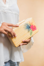 Load image into Gallery viewer, Tropical Rainforest Wooden Clutch - Island Girl