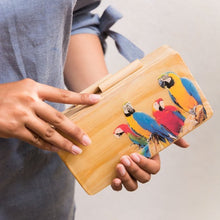 Load image into Gallery viewer, Parrot Life Wooden Clutch - Island Girl