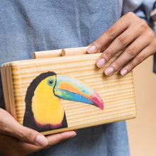 Load image into Gallery viewer, Toucan Wooden Clutch