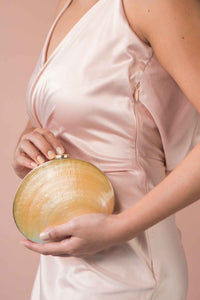 Alessa Mother of Pearl Clutch - Island Girl