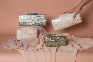Carina Shell Clutch in Black-lip - Island Girl