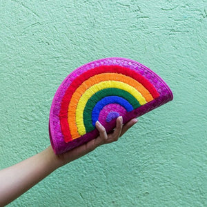 RAINBOW Half Moon Clutch - Island Girl