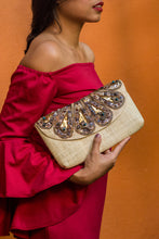 Load image into Gallery viewer, SANTA CLARA Raffia Date Night Clutch