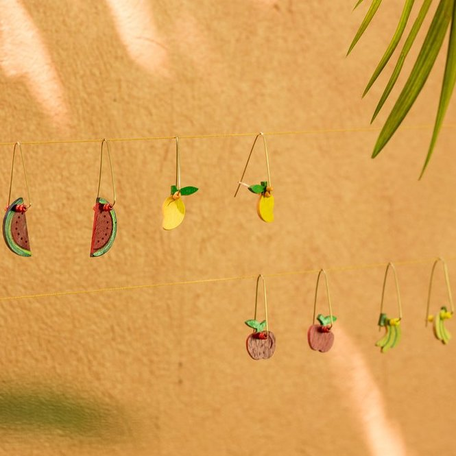 DANGLING APPLE Earrings - Island Girl