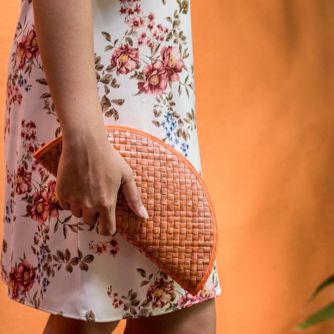 SUMMER ESSENTIALS Half Moon Clutch - Island Girl