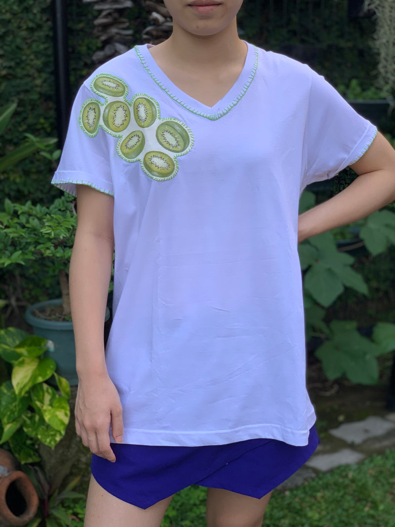 Hand-Painted Shirt (Kiwi) - Island Girl