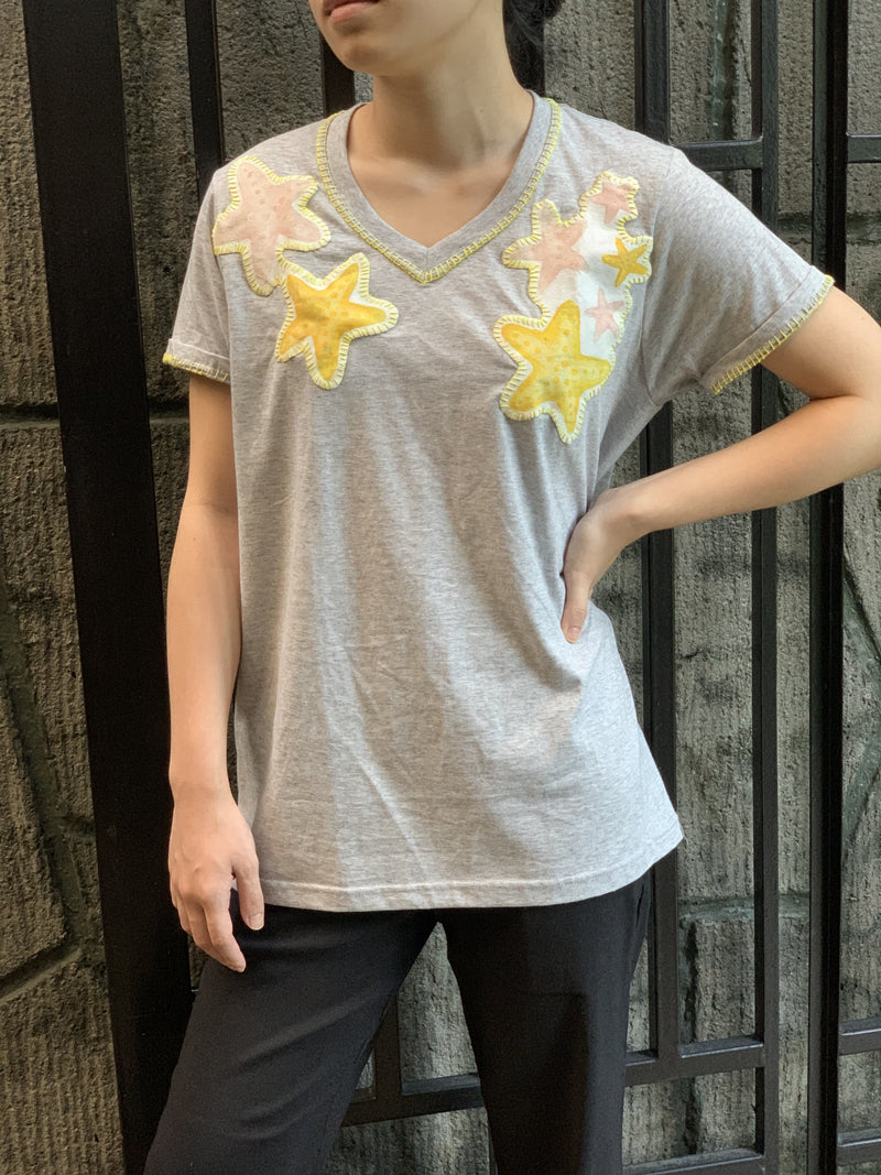 Hand-Painted Shirt (Multi-Starfish) - Island Girl