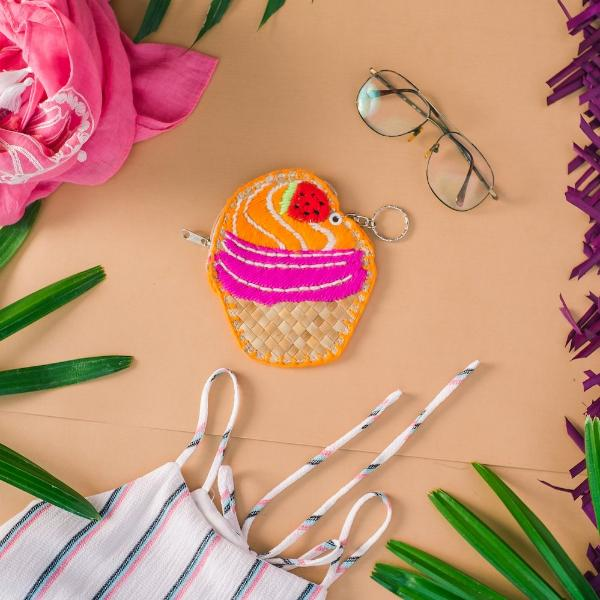 CUPCAKE Coin Purse + Keychain - Island Girl