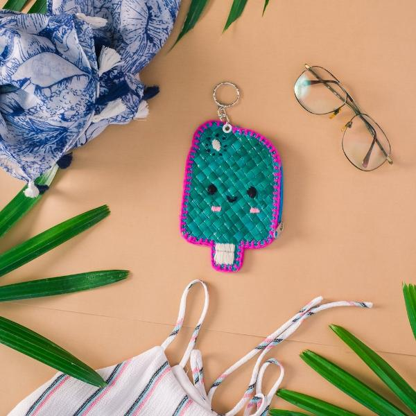 POPSICLE Coin Purse + Keychain - Island Girl