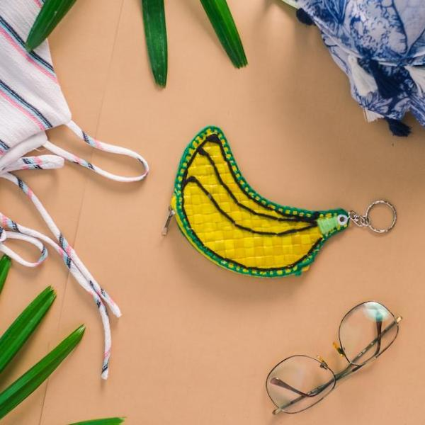 Banana Coin Purse + Keychain - Island Girl
