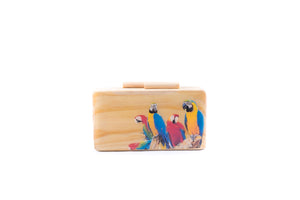 Parrot Life Wooden Clutch - Island Girl