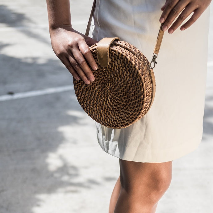 Alicia Rattan Crossbody - Island Girl