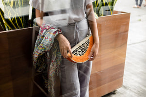 A Slice of Papaya Clutch - Island Girl