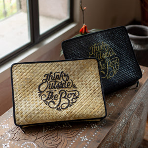 THINK OUTSIDE THE BOX Laptop Case in Black - Island Girl