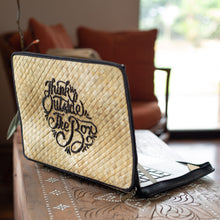 Load image into Gallery viewer, THINK OUTSIDE THE BOX Laptop Case in Natural - Island Girl
