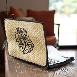 Think Outside The Box Laptop Case in Natural - Island Girl