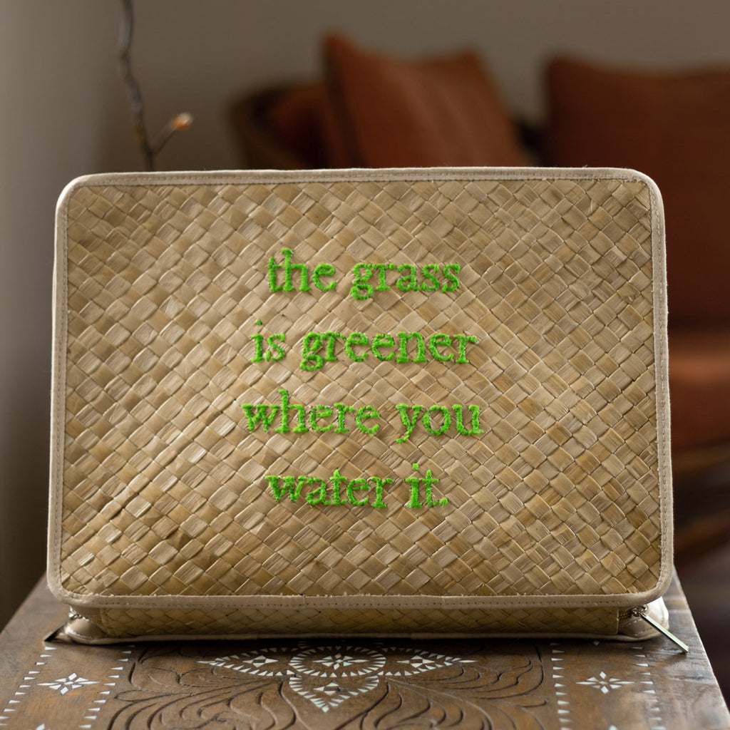 The Grass Is Greener Laptop Case - Island Girl