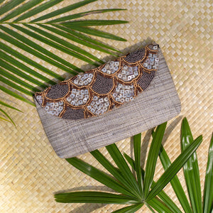 Siesta Envelope Clutch in Gray - Island Girl
