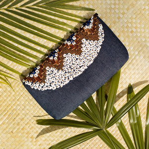 Anika Envelope Clutch in Denim - Island Girl