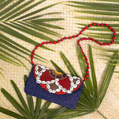 Gracie Cowrie Clutch - Island Girl