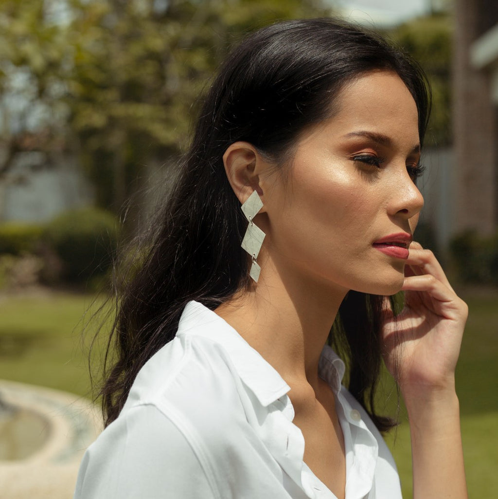 Claudette Capiz Earrings in Natural - Island Girl