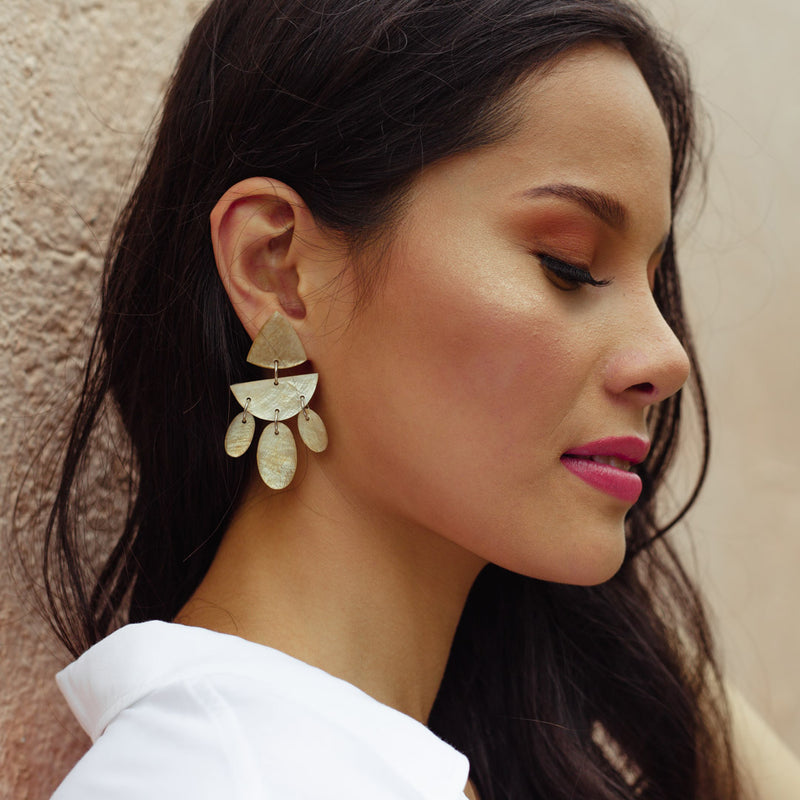 Solace Capiz Earrings in Smoked - Island Girl