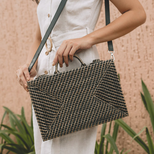 THE BRIEFCASE MINI in BLACK - Island Girl