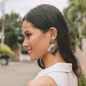 Bern Capiz Earrings in Gray - Island Girl