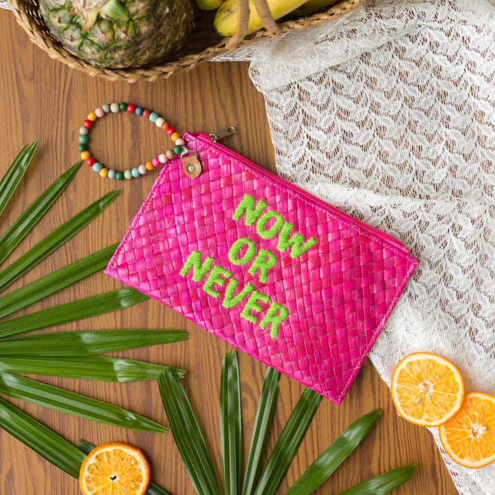 Quote Clutch: Now or Never - Island Girl