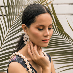 Portia Capiz Earrings in Natural - Island Girl