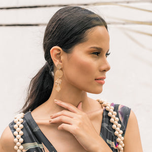 Marni Capiz Earrings in Smoked Capiz - Island Girl
