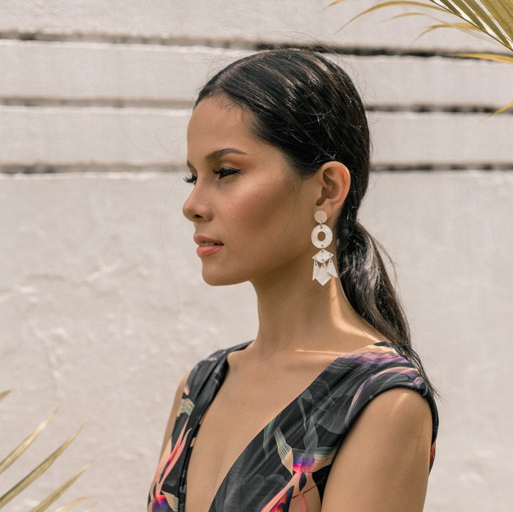 Bobbie Capiz Earrings in Natural - Island Girl