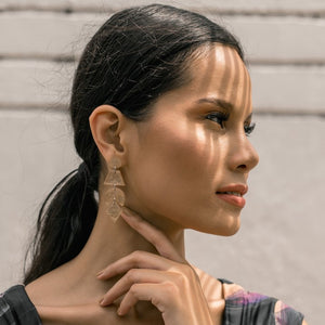 Vania Capiz Earrings in Smoked - Island Girl