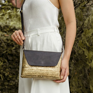 The Bamboo Clutch in Gold - Island Girl