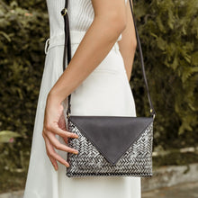 Load image into Gallery viewer, THE BAMBOO CLUTCH in SILVER - Island Girl