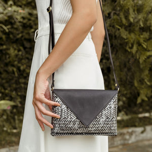 The Bamboo Clutch in Silver - Island Girl