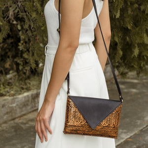 The Bamboo Clutch in Copper - Island Girl