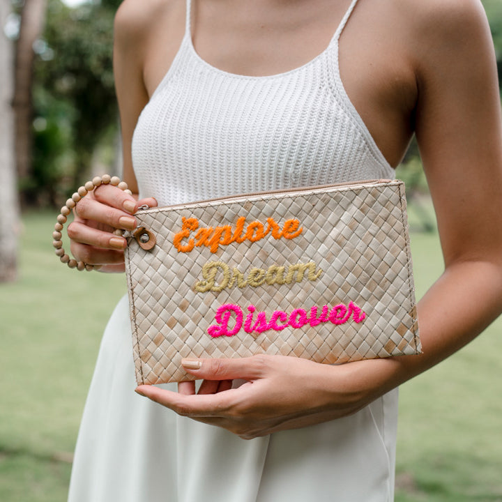 Quote Clutch: Explore Dream Discover - Island Girl