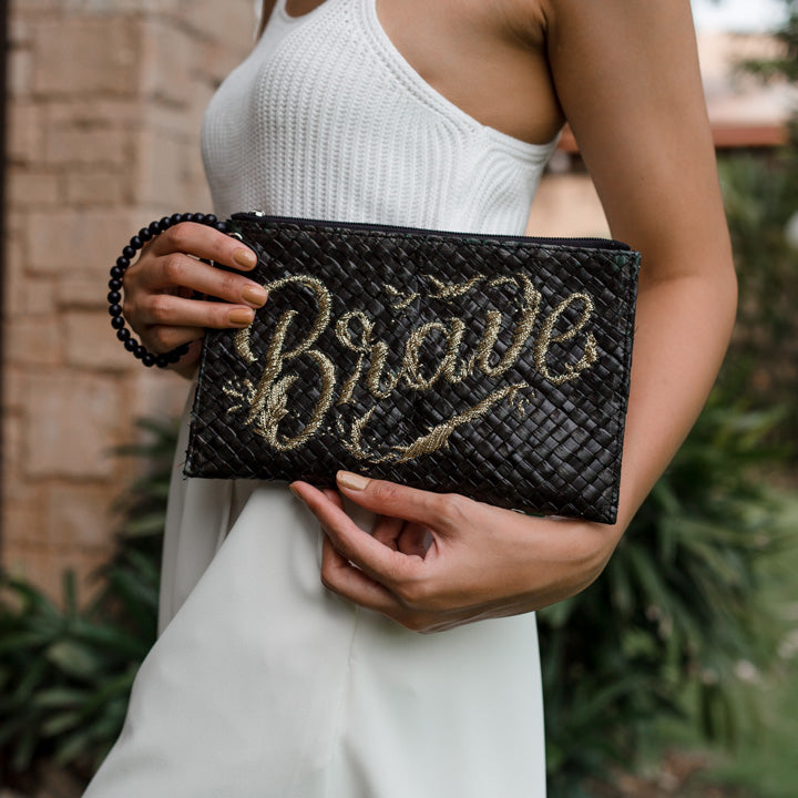 Quote Clutch: Brave in Black - Island Girl