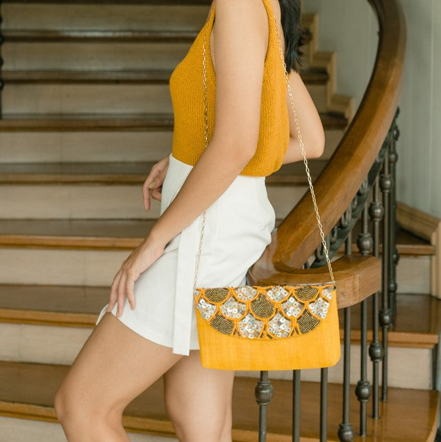 Siesta Envelope Clutch in Yellow - Island Girl