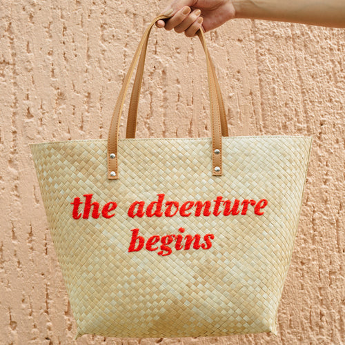 THE ADVENTURE BEGINS Tote - Island Girl